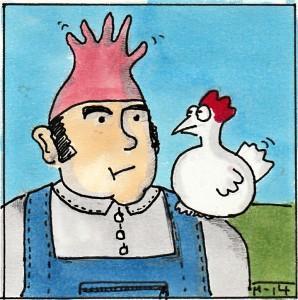 Mensch-und-Huhn