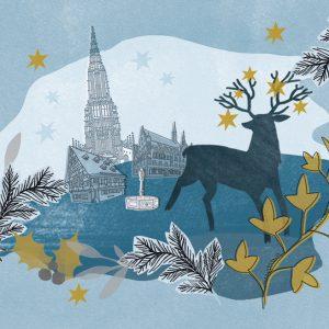 """Klappkarten """"Weihnachten in Ulm"""""""
