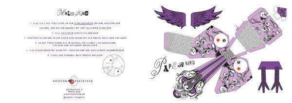 Bastelbogen Vögelchen 2